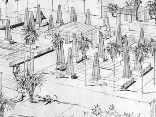 Jardín en Hotel en el Caribe