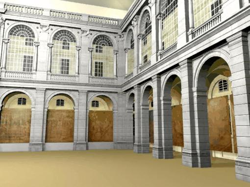 Instalación en el Palacio Real